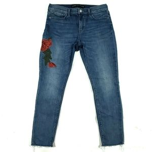 Express Womens 10 Ankle Legging Jeans Embroidered